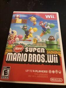 Nintendo Wii New Super Mario Bros Video Game -  Complete - W/Manual