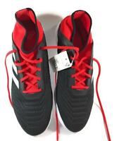 Adidas Men's Predator Tango Athlete Cleats Soccer Shoes, Black/Red, US Size 11.5