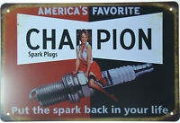"Dependable Champion Spark Back In Your Life Plug Retro Metal Tin Sign 12x8"" NEW"