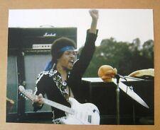 Rock & Roll Jimi Hendrix 8x10 Color Photo with Mashall Amp