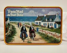 Beautiful French Biscuit Tin-Cycling/Bicycle Theme-Traou Mad De Pont-Aven