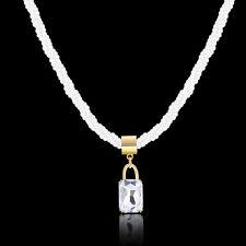 Diamond Bead Necklace Charm Chain Choker Crystal Jewelry Bib Pendant Chunky