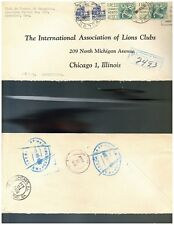 1168 MEXICO Registered Cover Lions Clubs 1958 Acapulco to Chicago USA 1950-1975
