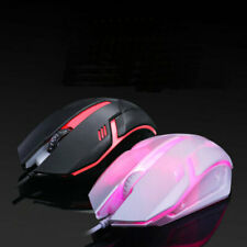 Gaming Mouse 3 Button USB Wired LED Breathing Fire Button 3200 DPI Laptop PC