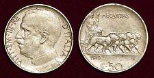 50 centesimi 1919 plain edge Vittorio Emanuele III ITALY Italia Italie