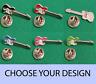 Electric Guitar Enamel & Metal Lapel / Pin Badge - 20mm Choice of Colours