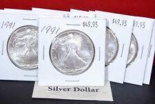 1991 1 oz Silver American Eagle BU Coin US $1 Dollar Brilliant Uncirculated *91