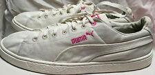 PUMA InCycle Basket Sneakers Lace Up White Pink Shoes sz 12 Men's Biodegradable