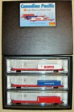JTC - Runner 3-Pk  COFC Flat Cars w/ Container  (Canadian Pacific)