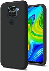 Coque Silicone Slim Noir + Verre Trempé Redmi Note 8T 9 Pro 8A 9A Poco F2 Pro