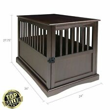 Indoor Wood Large Dog Crate End Table House Big Dogs Cage Kennel Furniture