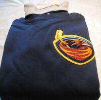 Atlanta Thrasher Sweat Shirt Turtleneck Medium NHL Majestic Brand 50/50