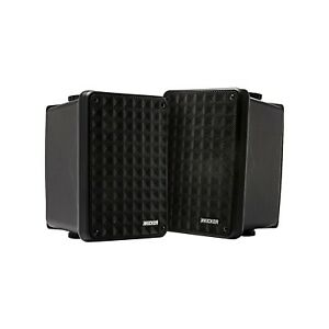 "KICKER 46KB6B 6.5"" Black Full Range Indoor/Outdoor/Marine Box Speakers ( Pair )"