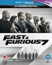 Fast and Furious 7 Blu-ray Extended Edition 2014 Slip Case &