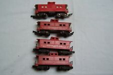 AMERICAN FLYER LOT FOUR POST WAR CABOOSES