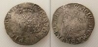 Collectable Hammered Silver King Charles I Shilling coin / Bell