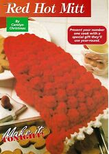 HANDY Red Hot Mitt/Decor/Crochet Pattern INSTRUCTIONS ONLY