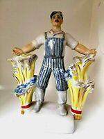 "Vintage Porcelain Figurine ""Harvest"" Soviet USSR Vintage Propaganda of 60's."