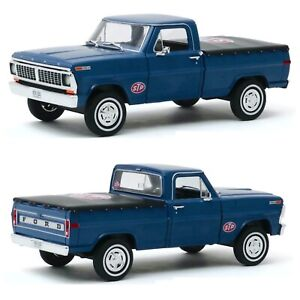 """1/24 Greenlight Ford F-100 Truck 1970 Blue """" Stp """" New Free Shipping Home"""
