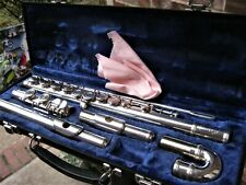Clean/Fully Adjusted Armstrong Silver Plated Curved Head Flute USA! Two Flutes!