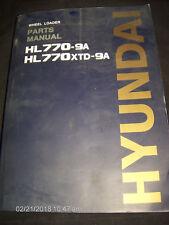 Hyundai PARTS Manual Catalog HL770-9A & HL770XTD-9A WHEEL LOADER        Lot #841