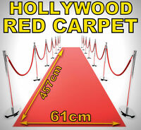 2 x 15ft/5M Hollywood VIP Premiere Party Fake Pretend Red Carpet Runner X14 120