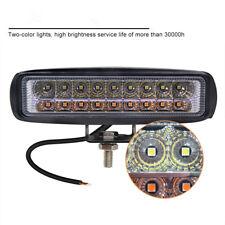 1Pcs 6'' Aluminum 18LED 54W 5400LM 12-24V Led Work light Combo Bar Dual Colors