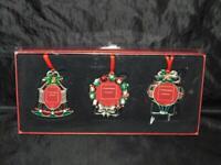 ST Nicholas Square Christmas Ornament Picture Frames Set 3 NEW Wreath Bell Kohls