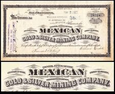 Mexican Gold & Silver Mining Company Ca 1927 Stock Certificate