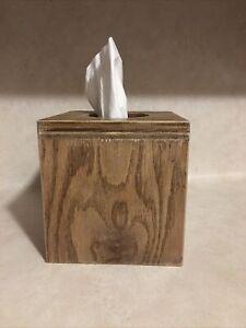 Handmade Wooden Tissue Box Cover