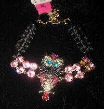 "Betsey Johnson ""Enchanted Forest"" Owl bracelet"