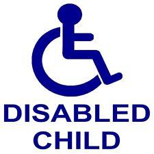 1 x figlio disabile auto sedia a rotelle sticker-disability logo-external segno di mobilità