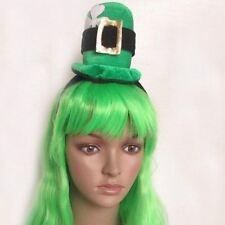 St Patricks Day Irish Green Top Hat Headband Fancy Dress Celtic Costume Ladies