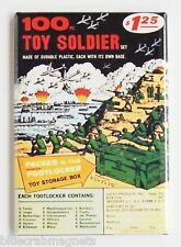 100 Toy Army Soliders FRIDGE MAGNET (2 x 3 inches) comic book advertisement