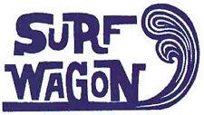 """ Surf Wagon ""    Vintage Style Travel Surfing  sticker  Decal"