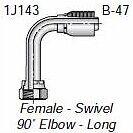 "HF 1J143-10-12 - Parker 1J143-10-12 Fitting 3/4"" Hose X 5/8"" Female Seal-Lok - S"