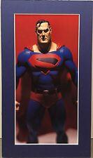 SUPERMAN By ALEX ROSS Pro Matted Print Kingdom Come DC Comics JLA Action Figure