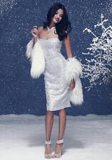 BEBE SILVER FOIL LACE STRAPLESS DRESS NEW NWT $149 XXSMALL XXS
