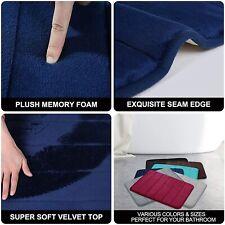 Memory Foam Soft Bath Mats - Non Slip Absorbent Bathroom Rugs Rubber Back Runner