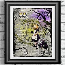 Gothic Dictionary art print Alice in Wonderland Steampunk Midnight decor Gift