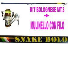 KIT CANNA 3 METRI + MULINELLO + FILO DA MARE LAGO FIUME BOLOGNESE