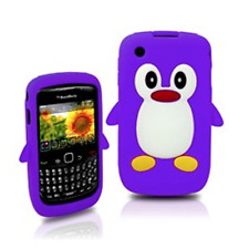KOLAY Penguin Silicone Case for Blackberry Curve 8520 - BUY 1 AND GET 1 FREE
