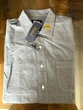 1 NWT OXFORD GOLF MEN'S LONG SLEEVE BUTTON DOWN SHIRT, SIZE: LARGE - GREY