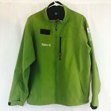 Spyder Green Coat Jacket Zip Pockets *Taleo 10 Year Ann. Custom Men's LARGE