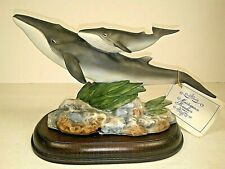 Homco Fin Whales Endangered Species Mizuno Masterpiece Porcelain Tag & Base