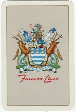 Playing Cards 1 Swap Card - Vintage FURNESS LINES Shipping Company Crest AD
