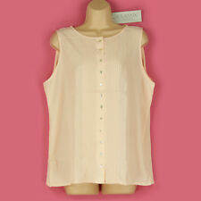 BNWT BEAUTIFUL CLASSY BUTTON & PLEAT FRONT CAMISOLE OFFICE/EVENING TOP SIZE 20?