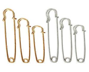 Strong Metal Kilt Pin Scarf Safety Ornate Brooch Knitting Stitch Holders SML UK