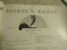 Vintage Harper's Bazaar Magazine January 1927 Wonderful Art Deco, Flapper Period