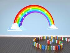 Rainbow Nursery Clouds Huge Kids Wall Art Sticker Full Colour Print Decal P2Q